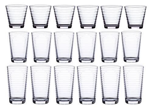 18 Piece Drinking Glassware Set,...