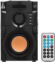 Goolsky Big Power لاسلكية مكبر صوت ستيريو بمكبر صوت ثقيل مزود بمدخل موسيقى AUX IN LCD وراديو FM TF وفتحة يو دي