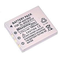 Maxsimafoto - NP-40 Compatible Battery 1250mAh for FUJIFILM FinePix F402, F455, F460, F470, F480, F485, F610, F650, F700, F710, F810, FinePix J50, FinePix V10, HIGH OUTPUT 1250mAh, NP40.