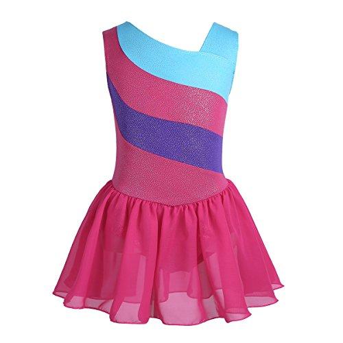 CHICTRY Vestido Niña de Patinaje Artistico Disfraz De Bailarina Vesti