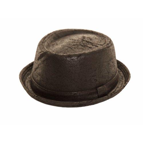 Unisexe Noir porté Look Porkpie - Noir -