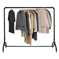 Voilamart Metal Clothes Rail 6FT X 5FT Heavy Duty Garment Hanging Display Rack Commercial Clothes Stand with Wheels Lockable (6 Hooks for Handbag Scarf)