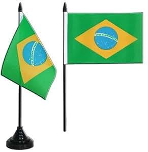 Digni® Drapeau de table Brésil, mini drapeau - 10 x 15 cm