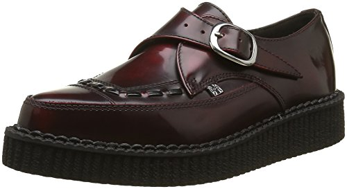 T.U.K. Monk Pointed Creeper Burg Rub-Off, Baskets Basses Mixte Adulte Rouge (Burgundy)