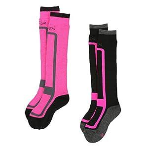 Ultrasport ZigZag Mädchen und Jungen Ski-Socken 2er Pack Williams