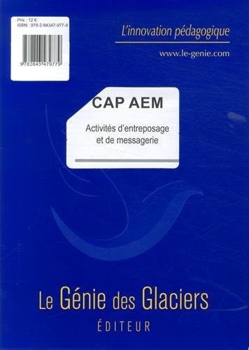 Activités d'entreposage et de messagerie CAP AEM