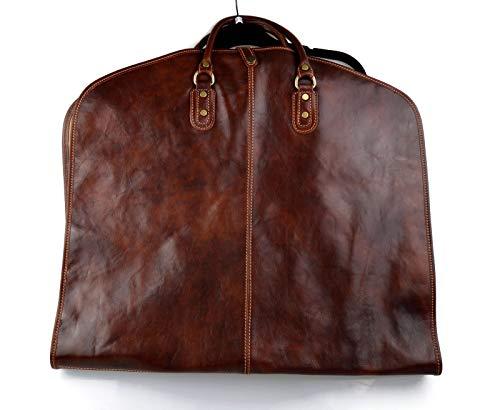 Kleidersack aus Leder Kleidersack Handgepäck-Kleidersack mit Griffen Kleidersack Kleidersack hängender Kleidersack braun
