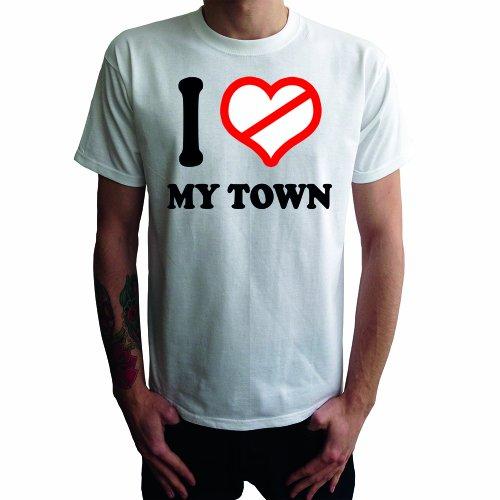 I don't love my Town Herren T-Shirt Weiß