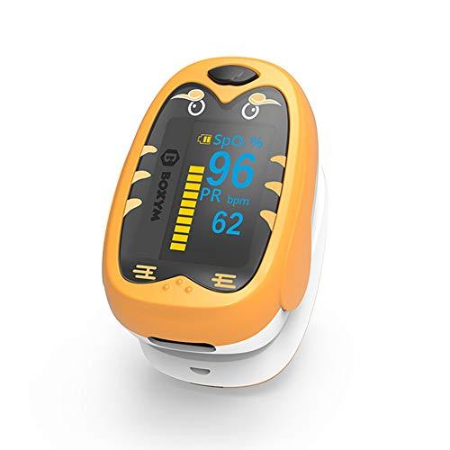 QWER Medizinische Kinder Säuglingsfinger-Pulsoximeter Pädiatrisches SpO2-Blutsauerstoffsättigungsmessgerät Neugeborene Kinder Wiederaufladbar,Yellow