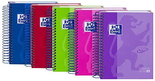 Oxford Lila (Oxford Collegeblock European Book Touch DIN A6 kariert -> kein Farbwunsch möglich, 1 Stück)