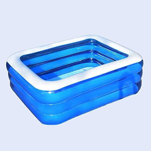 Piscina Familiar Rectangular Piscina Inflable (Suelo) Fast Set Liner Tricapa De PVC Y PoliéSter Azul, 305 * 183 * 56cm/10×6×1.8ft
