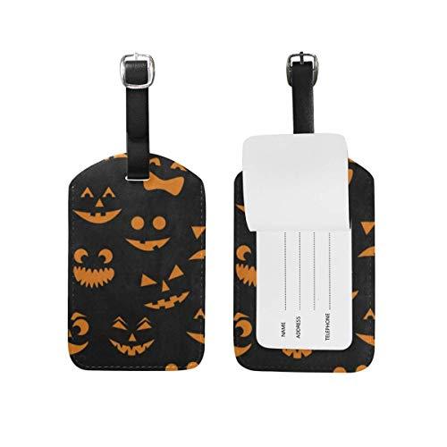 Luggage Tags Orange Halloween Pumpkin Cat Travel ID Identifier 1 Pack (Halloween 2019 Cruise)