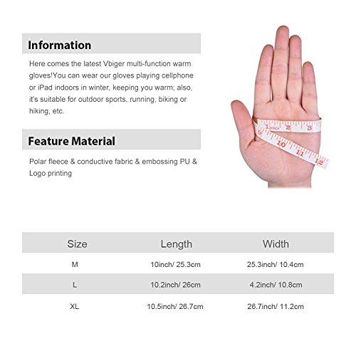 Vbiger TouchscreenHandschuhe Sport Handschuhe Trainingshandschuhe Rutschfest Handschuhe Vollfingerhandschuhe Trainingshandschuhe - 6