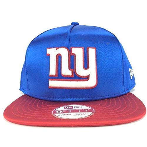 New Era - Casquette Snapback Homme New York Giants 9Fifty Satin - Blue/Red - Taille S/M