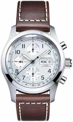 Hamilton Khaki Field Chrono Auto H71556557 - Reloj de caballero automático, correa de piel color marrón