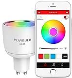 MiPow - LED-Leuchte, Playbulb, Smart-LED GU10,4W (35W), RGB, Fassung: weiß