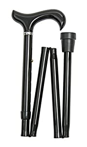 Extra Long Height Adjustable Folding Walking Stick