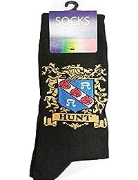 Heraldic Family Crest Cotton Socks for Men HUNT (UK: 6-11 / EUR: 40-45)