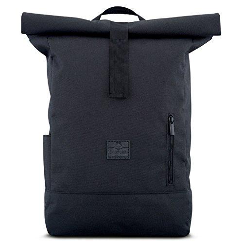 Zaino nero uomo e donna - johnny urban aaron da pet riciclato - zaino grande di alta qualità con parte superiore pieghevole - borsa zainetto 18-22 litri - idrorepellente, flessibile, tasca porta pc