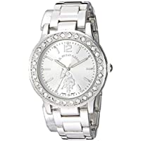 U.S. Polo Assn. Womens Quartz Watch, Analog Display And Stainless Steel Strap - USC40329