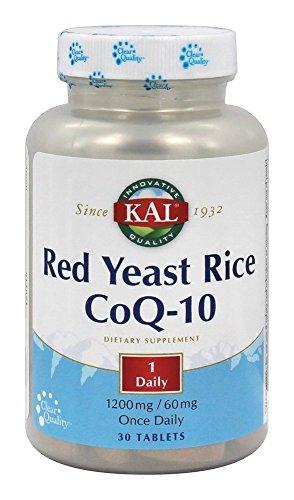 Kal - Riso rosso CoQ-10 del lievito - 30 Ridurre in (Kal Riso)