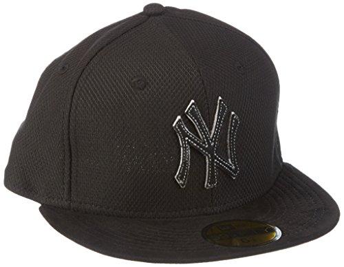 New Era Cap Diamond Suede New York Yankees, Black/Gray, 7 1/2 Suede Visor Cap