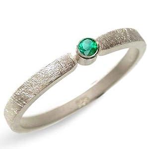 Silberring mit Smaragd Verlobungsring, Vorsteckring, Beisteckring, Verlobung - handgefertigt by SILVERLOUNGE