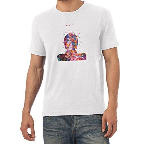 NERDO - Colour Droid - Herren T-Shirt Weiß