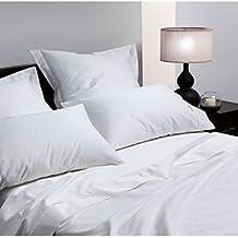 Lino Galaxy T400lujo blanco color King Hotel calidad satén de algodón egipcio sábana de