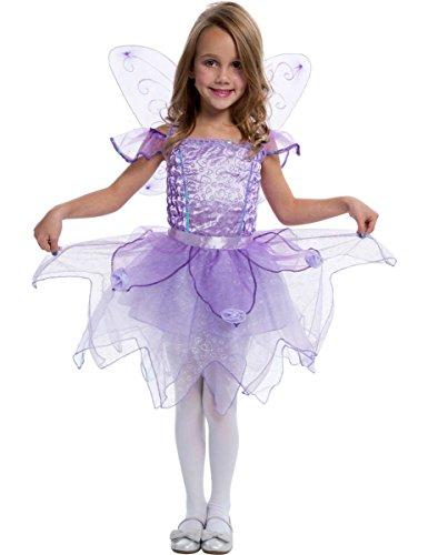 Kinder Lila Fee Prinzessin Mädchen Kostüm Karneval Fasching (Kostüm Für Leute Alte Kinder Kleine)