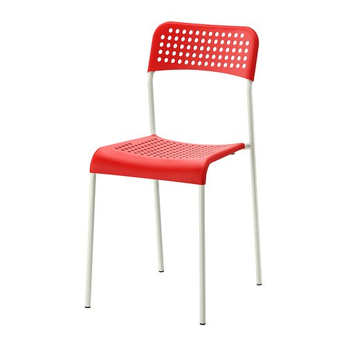 IKEA ADDE - Presidente, rojo, color blanco