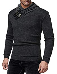 ZIYOU Langarm Sweatshirt Herbst Winter, Herren Streetwear Pullover Basic Rundhals Hemd T Shirts Tops für Männer