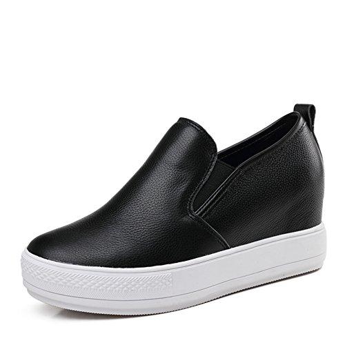 Aumento De Primavera En Los Paños De Gao Lefu, Zapatos Casuales De Cuero De Jurchen, Plataforma De Zapatos De Espesamiento, Zapatos Planos, Calzado De Mujer B