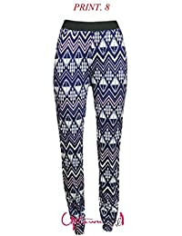 NEW WOMENS LADIES PRINTED FLORAL AZTEC HAREM PANTS POCKET TROUSERS LEGGINGS