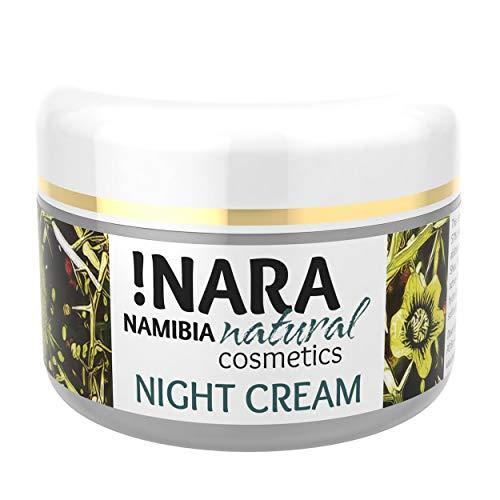 !Nara Bio Naturkosmetik Nachtcreme 50 ml reichhaltige Gesichtscreme gegen Rötungen für trockene empfindliche Haut mit beruhigender...