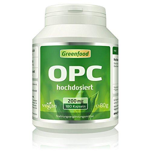 OPC, 200 mg, extra hochdosiert, 180 Vegi-Kapseln – eines der höchstdosierten Produkte am Markt. Der Super-Antioxidant. OHNE künstliche Zusätze. Ohne Gentechnik. Vegan.