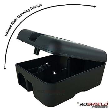 1 X Roshield External Rat Snap Trap Control Box - Green No Poison Professional Solution 3