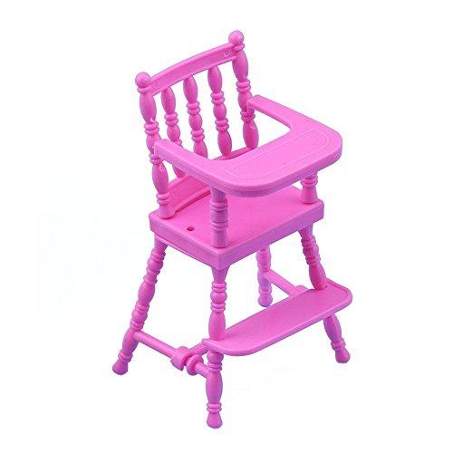 Domybest tragbares rosa Kind, das Stuhl-Spielzeug für -Puppenhaus-Möbel speist