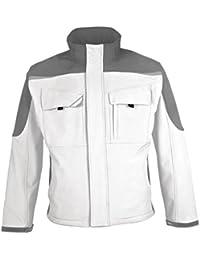 BESTWORK Softshell Jacke weiß/grau Gr. 2XL