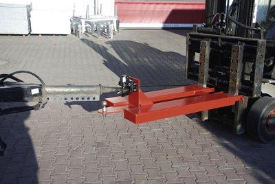 Bauer Rangierhilfe, Anhängerkupplung Rockinger selbsttätig+ Kupplungskugel, BxTxH 680x1505x340 mm, max. Stützlast 100 kg, rot