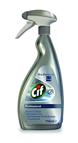 Cif Pro Formula 7517939 metal cleaner and polish - Metal cleaners and polishes (Cleaning, Sprayer and dry cloth, Stainless steel, Spray, 750 ml, 19 cm)