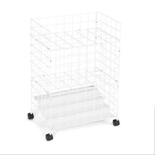 Rouleau de fil de fichiers, 24 compartiments, 21 W X 14-1/4d X 31-3/4H, Blanc, vendu comme 1 chaque