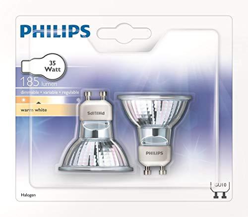 Philips 924713444246 Half Twist Halogenglühbirnen, GU10, 35 W, 2 Stück -