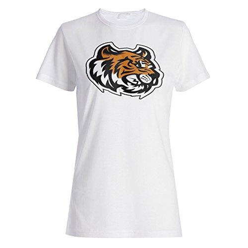 (Tiger Kopf Maskottchen-Logo Damen T-shirt u621f)