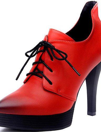 WSS 2016 Chaussures Femme-Bureau & Travail / Soirée & Evénement-Noir / Rouge-Talon Aiguille-Talons-Chaussures à Talons-Synthétique black-us8 / eu39 / uk6 / cn39