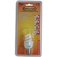 Omicron lampada a risparmio energetico, T2, 5W, luce fluorescente compatta,
