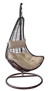 Sylt amaca sedia a dondolo poltrona in vimini da giardino giardino e giardinaggio - Amazon dondolo da giardino ...