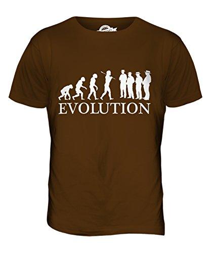 CandyMix Barbershop Quartett Evolution Des Menschen Herren T Shirt Braun