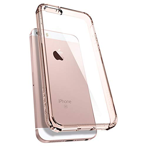 iPhone SE Hülle, Spigen® iPhone 5S/5/SE Hülle [Ultra Hybrid] Luftpolster-Technologie [Rose Crystal] Durchsichtige Rückschale und Transparent TPU-Bumper Schutzhülle für iPhone SE/5S/5 Case, iPhone SE/5S/5 Cover - Rose Crystal (041CS20172)