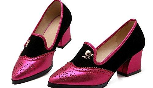 YCMDM Femmes Mariage Chaussures De Mariage Chaussures De Travail Grande Taille Unique Sandales Chaussures red